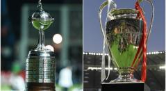 Trofeos de la Copa Libertadores y la Champions League