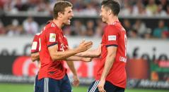 Thomas Muller y Robert Lewandowski