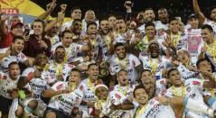 Junior de Barranquilla se coronó campeón de la Liga Águila 2018-II tras superar al Medellín con un marcador global de 5-4.