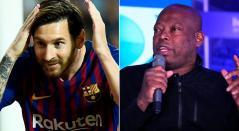 Faustino Asprilla y la camisetra que le regaló Lionel Messi