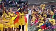 Equipo femenino de Baloncesto y Atlético Huila de Mujeres