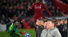 El momento en que Salah bate a Ospina para anotar gol (partido entre Liverpool y Nápoles)