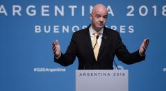 Gianni Infantino, presidente de la FIFA, presente por estos días en Buenos Aires