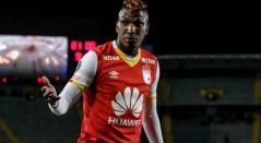 Johan Arango jugando con Independiente Santa Fe