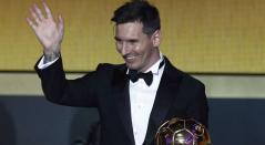 Messi, fuera del podio del Balón Oro tras once años