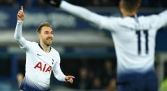 Christian Eriksen celebrando un gol con e Tottenham