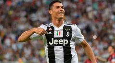Cristiano Ronaldo, la gran estrella de la Juventus de Italia en la Serie A