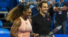 Serena Williams y Roger Federer