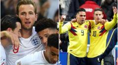 Inglaterra - Colombia, selecciones de fútbol