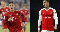 James Rodríguez y Mezut Özil