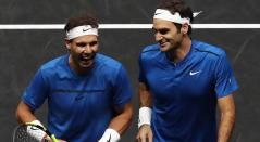 Rafael Nadal y Roger Federer, tenistas