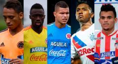 Jarlan Barrera, Dávinson Sánchez, 'Cucho' Hernández, Alfredo Morelos y Luis Díaz, jugadores que conformaron la Selección Colombia sub-20