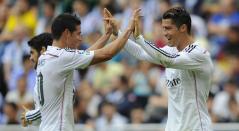 Cristiano Ronaldo y James Rodríguez en su etapa con el Real Madrid