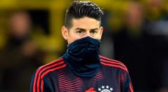 James Rodríguez, a la espera de definir su futuro en el Bayern Munich.