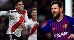 Juan Fernando Quintero y Lionel Messi