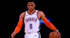 Russell Westbrook, base de los Thunder de Oklahoma City