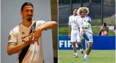 Zlatan Ibrahimovic y Carlos 'Pibe' Valderrama