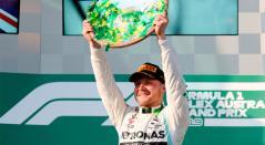 Valteri Bottas celebrando su victoria en el Gran Premio de Australia
