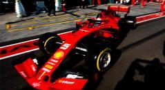 Sebastian Vettel durante la sesión de clasificación en el Gran Premio de Australia