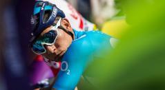 Nairo Quintana antes de la partida en la Vuelta a Cataluña 2019
