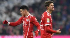 James Rodríguez y Thomas Müller