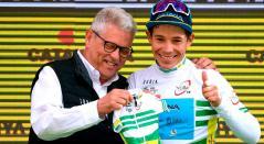 Miguel Ángel López como campeón de la Vuelta a Cataluña