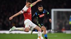 Arsenal dio buena cuenta del Napoli en cuartos de final de la Europa League