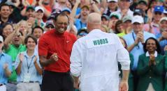 Tiger Woods y su caddie