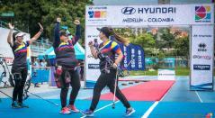 Equipo colombiano de tiro con arco compuesto.