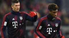 Robert Lewandowski y Kingsley Coman