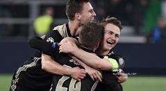 Matthijs de Ligt celebra la clasificiación del Ajax a las semifinales de la Champions League