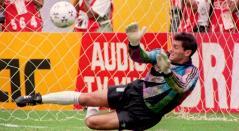 Sergio Goycochea, arquero de la selección argentina durante la Copa América de 1993 en Ecuador.