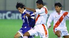 Foto del partido entre Japón y Perú en la Copa América 1999.