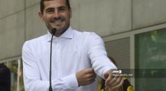 Iker Casillas, tras dejar el hospital que lo atendió al sufrir un infarto