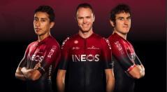 Egan Bernal, Chris Froome y Geraint Thomas - Team INEOS