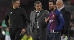 Lionel Messi y Ernesto Valverde