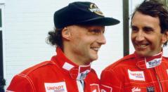 Niki Lauda en su paso por Ferrari, equipo con el que ganó dos títulos de la Fórmula 1