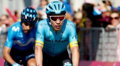 Miguel Ángel López en una de las etapas del Giro de Italia