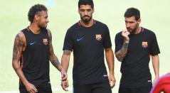 Neymar, Suárez y Messi, en su etapa como tridente del FC Barcelona