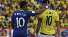 Neymar y James Rodríguez