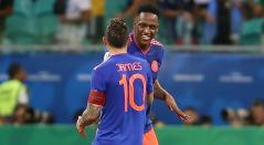 Yerry Mina y James Rodríguez - Selección Colombia