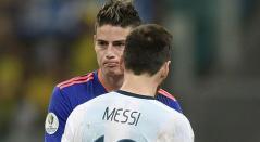 Messi y James Rodríguez
