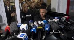 Neymar Jr declarando en Brasil