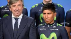 Eusebio Unzue y Nairo Quintana - Movistar Team