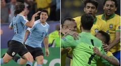 Uruguay y Brasil en la Copa América