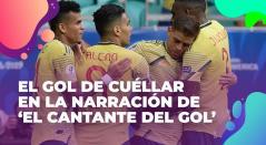 Nrrración Cantante del gol, copa america