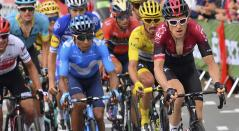 Nairo Quintana disputando el Tour de Francia
