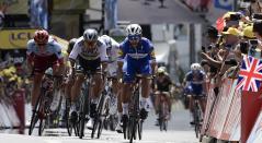 Fernando Gaviria y Marcel Kittel en el Tour de Francia 2018