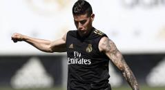 James Rodríguez entrenando con Real Madrid