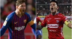 Lionel Messi y Germán Cano